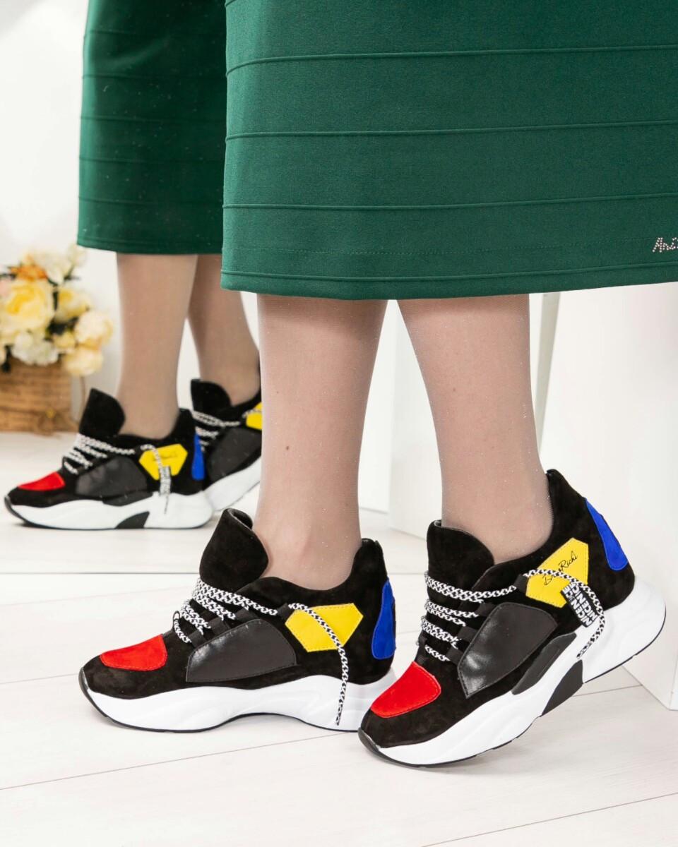 Женские кроссовки беккеты цветные D R на платформе натуральная замша