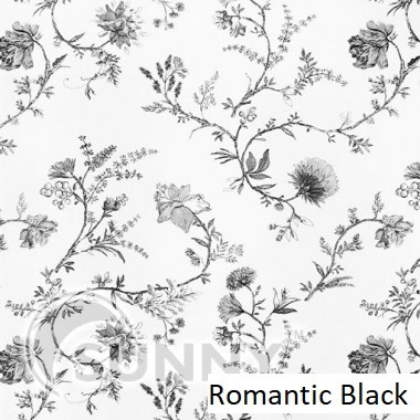 Рулонные шторы для окон в открытой системе Sunny, ткань Romantic