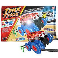 ϞТрек Trix Trux 1 car канатные гонки на грузовиках монстрах 1 машинка игрушка для детей конструктор