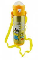 Термос детский с поилкой Disney 9030-500 500мл, желтый, фото 1