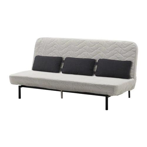 Трехместный раскладной диван IKEA NYHAMN с пенным матрасом и 3 подушками Borred светло-бежевый 992.476.82