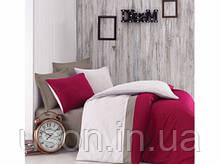Комплект постельного белья  Cotton box евро размер ранфорс Plain Sport bordo