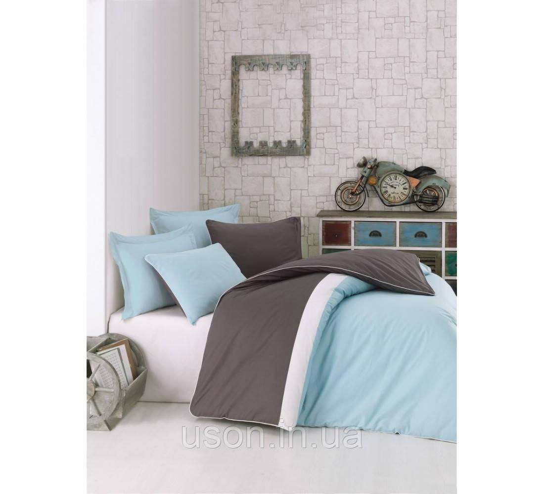 Комплект постельного белья евро размер Cotton box ранфорс Plain Sport MINT