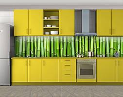 Кухонный фартук Бамбук, Пленка для кухонного фартука с фотопечатью, Текстуры, фоны, зеленый