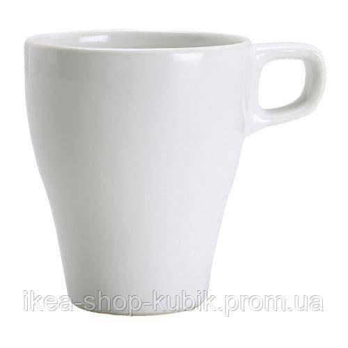 ІКЕА FÄRGRIK Чашка, біла, 250 мл.