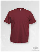 Бордовые футболки мужские Fruit of the Loom