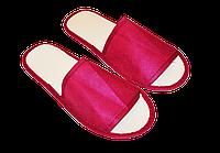 Одноразовые тапочки Бордовые (от 100 пар.)для отелей, саун, бань