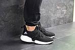 Мужские кроссовки Adidas (черно-белые), фото 3