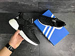 Мужские кроссовки Adidas (черно-белые), фото 5