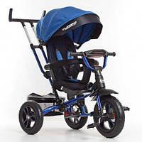 Велосипед - коляска Turbotrike M 4058-10 на надувных колесах Синий