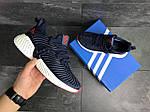 Мужские кроссовки Adidas (темно-синие с белым), фото 4