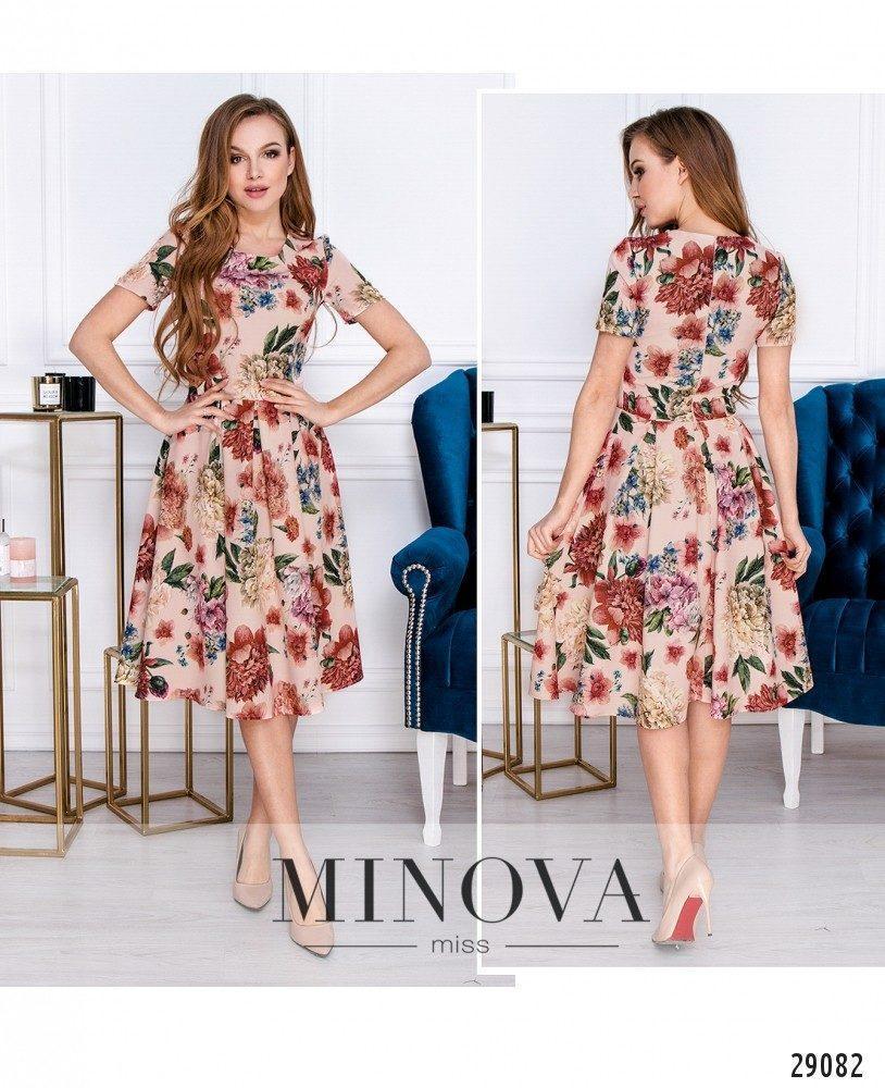 Романтичное платье в цветочный принт с юбкой в складку раз. 42,44,46,48
