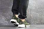 Мужские кроссовки Adidas (темно-зеленые), фото 2