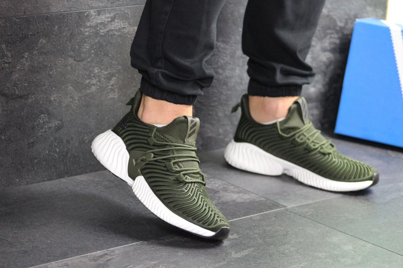 Мужские кроссовки Adidas (темно-зеленые)