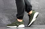 Мужские кроссовки Adidas (темно-зеленые), фото 6