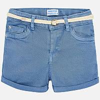 Голубые шорты для девочки 275-47, Размер одежды 10/140см