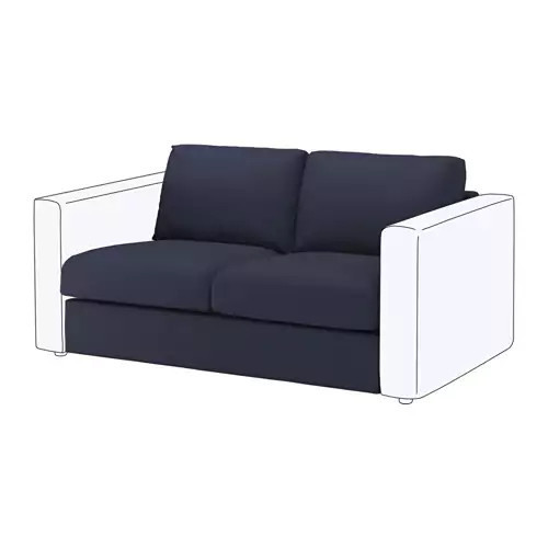 Секция 2-местная для модульного дивана IKEA VIMLE Orrsta темно-синий 692.195.05
