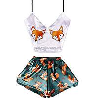 Пижама женская Fox 🦊 Лиса шелковая XS-S