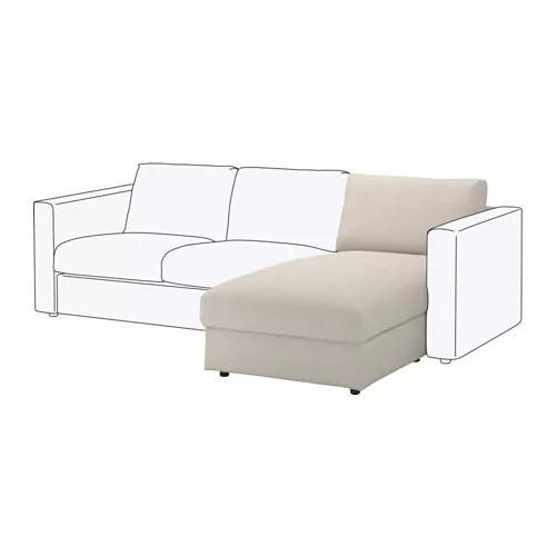 Секция кушетки / шезлонга для модульного дивана IKEA VIMLE Gunnared бежевый 591.974.48