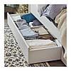 Каркас двуспальной кровати с 4 ящиками IKEA SONGESAND 140x200 см белый Leirsund 092.413.35, фото 4