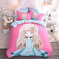 Комплект постельного белья Девочка и магнолия (двуспальный-евро) Berni