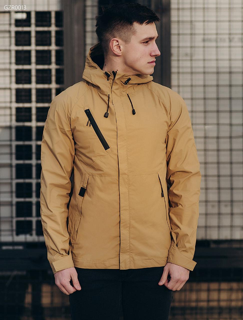 6c5f14da442 Мужская молодежная весенняя куртка (стаф) Staff windstorm beige GZR0013 -  интернет-магазин