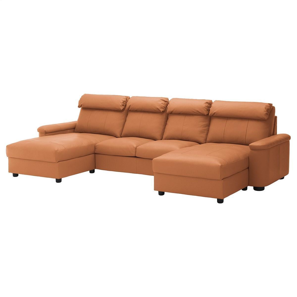 IKEA, LIDHULT, 4-местный диван, с шезлонгом, золотисто-коричневый (492.573.53) 49257353 ЛИДХУЛТ ИКЕА