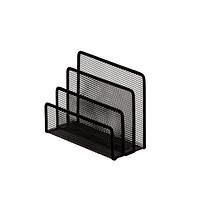 Підставка для листів, 3 відд., металева, чорна
