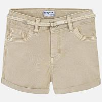Светло-коричневые шорты для девочки 275-45, Размер одежды 14/160см