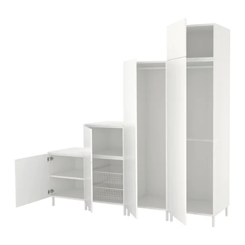 Шкаф IKEA PLATSA 240x57x231 см Fonnes белый 992.485.87
