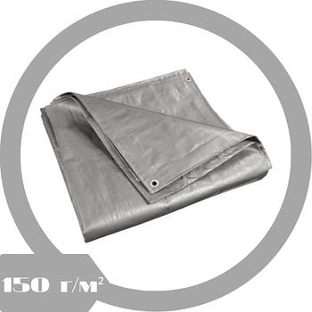 Тент тарпаулин 6x8м (150 г/м² серый)