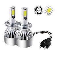 Светодиодные автомобильные лампы C6 LED Headlight H7 комплект автомобильных светодиодных ламп