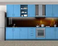 Кухонный фартук Огни, Наклейка на кухонный фартук, Абстракции, коричневый