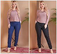 Женские брюки с карманами Батал до 54 р 18585, фото 1