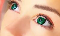 Зелёные линзы Мозг, цветные линзы для глаз на год