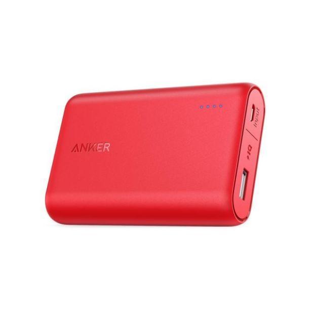 Внешний аккумулятор Powerbank Anker PowerCore 10000mAh, PowerIQ, красный (A1263091)
