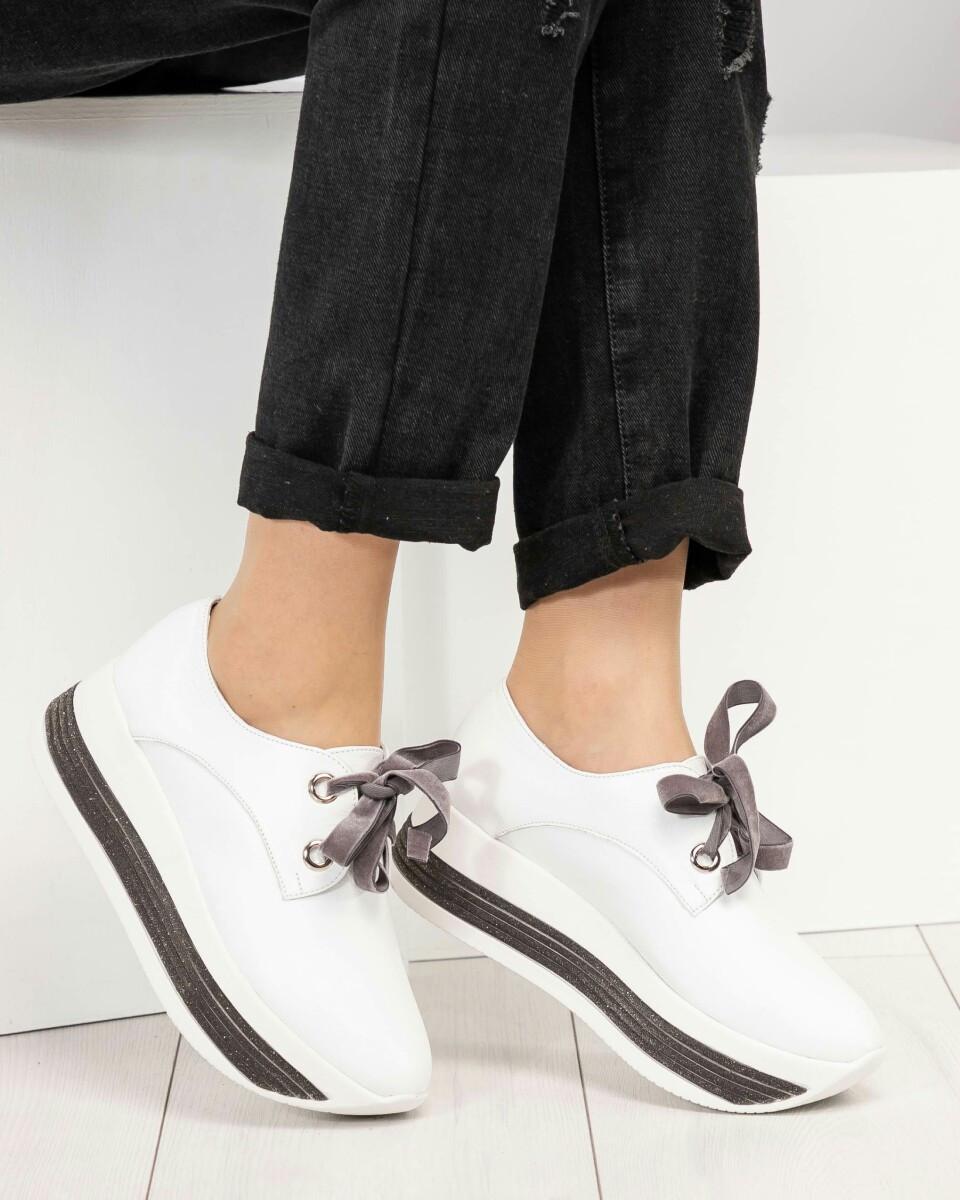 7fcc5529 Женские белые кроссовки на толстой подошве натуральная кожа Размер 36 -  Интернет-магазин обуви TINA