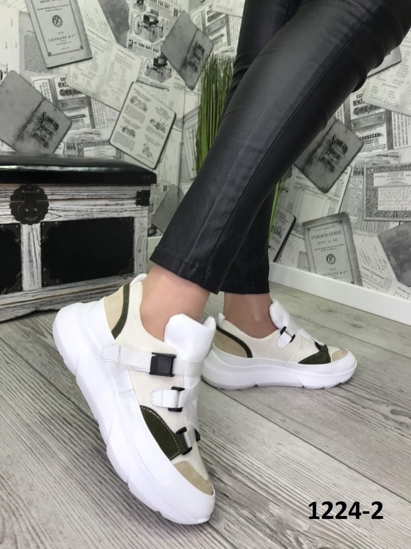 Женские модные кроссовки комбинированнные 36-40 весенние