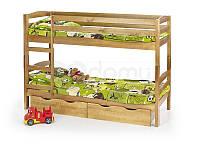 Кровать двухъярусная с ящиками Sam Halmar Ольха