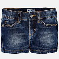 Темно-синие шорты для девочки 236-58, Размер одежды 7/122см