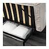 Трехместный раскладной диван IKEA NYHAMN с пружинным матрасом и 3 подушками Borred светло-бежевый 592.499.18, фото 6