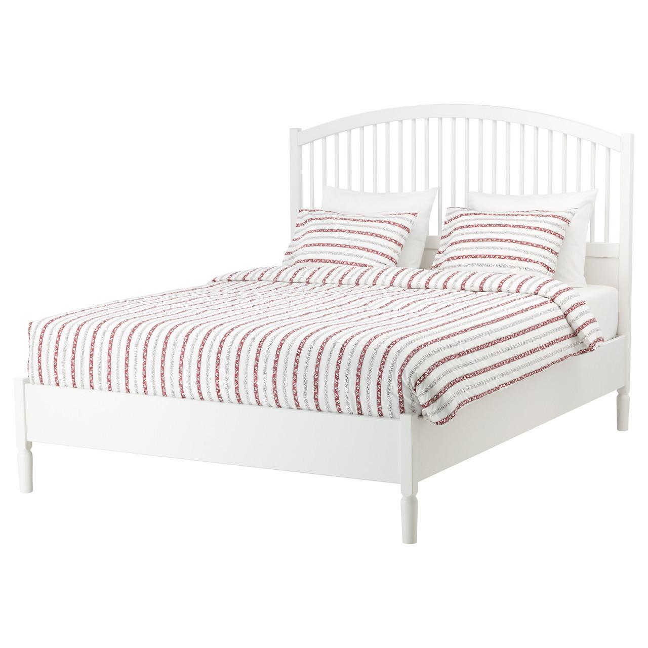 Каркас кровати IKEA TYSSEDAL 160x200 см белый 590.577.30