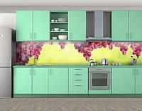 Кухонный фартук Розовый виноград грозди, Стеновая панель для кухни с фотопечатью, Еда, напитки, зеленый