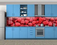 Кухонный фартук Малина ягоды, Стеновая панель для кухни с фотопечатью, Еда, напитки, красный
