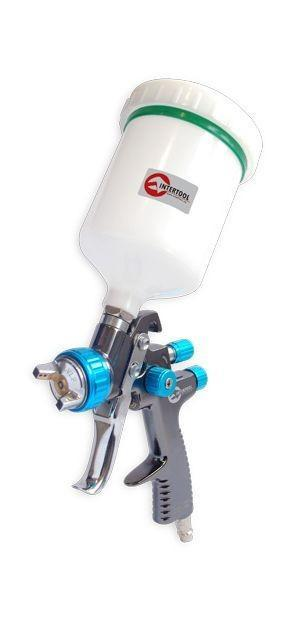 LVLP BLUE NEW Профессиональный краскораспылитель 1,4 мм, верхний пластиковый бачок 600 мл., mах 1,5 атм