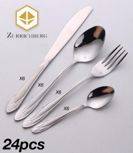 Серебристый набор фраже Zurrichberg ZBP 3007 набор столовых приборов из 24 предметов