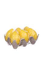 L11-240043, Набор пасхальных свечей в форме яиц (6 шт.), , желтый