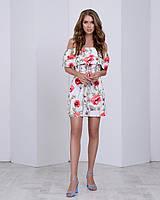 Легкое летнее платье с двумя воланами, фото 1