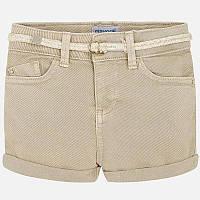 Светло-коричневые шорты для девочки 234-13, Размер одежды 5/110см