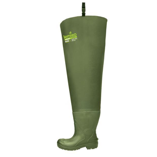 Забродные ботинки. Сапоги wodery резиновые мужские высокие для рыбалки Lemigo Польша 43 (826 43)